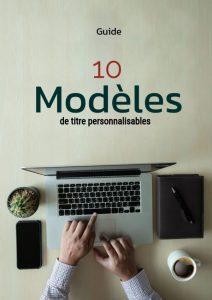 10 modèles de titres personnalisés