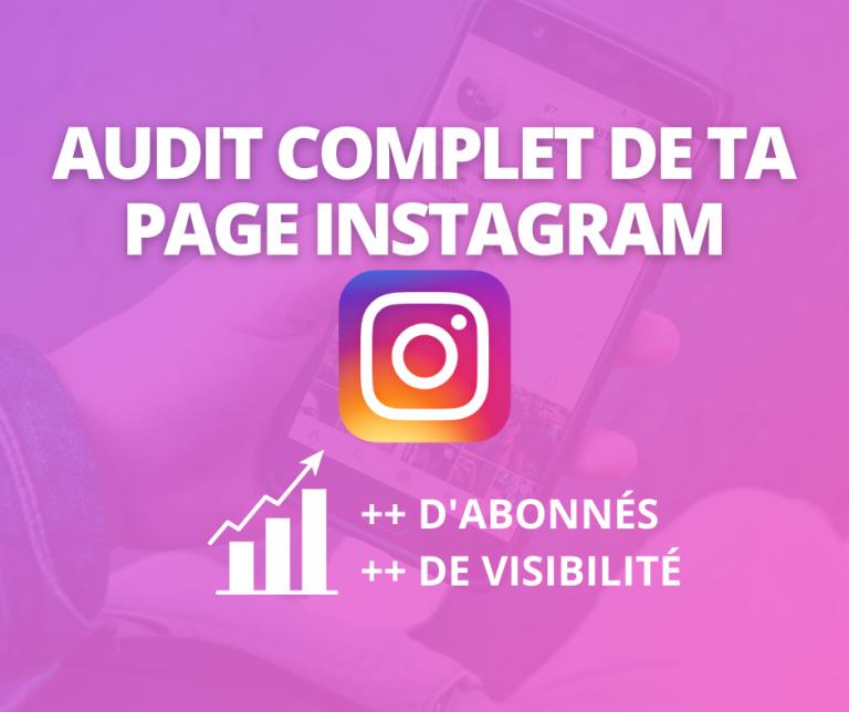 audit complet de te page instagrm
